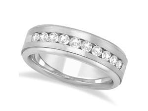 Men's Channel Set Diamond Ring Wedding Band in Palladium (1/4ct)