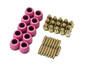 Lotos PCON40 40 pcs Lotos plasma cutter consumables nozzle electrode and cup for LTP5000D, LTP5000 LTPDC2000, LTPDC2000D ...