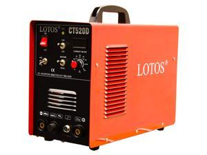 Lotos Technology CT520D 50 amps Plasma Cutter, 200 amps Tig Welder and 200 amps Stick Welder - Red