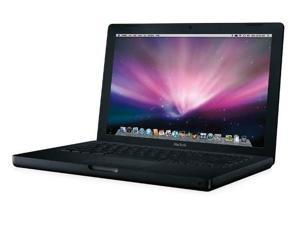 "Apple MacBook 13.3"" Notebook - Intel Core 2 Duo 2.20 GHz - Black - 1 GB RAM - 160 GB HDD - DVD-Writer - Intel GMA X3100 Graphics ..."