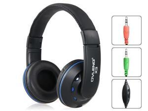OVLENG X3 3.5 mm On-ear Headphones with Microphone & 2.0 m Cable (Blue)
