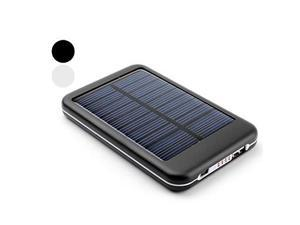 5000mAh Portable USB Solar Charger External Battery for iPhone, iPad, Cellphones (Assorted Colors) , Black