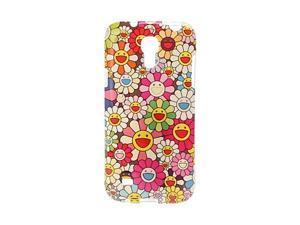Cute Smile Flowers Pattern TPU Soft Case for Samsung Galaxy S4 Mini I9190