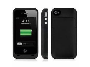 External Battery Backup 2000mAh Rechargeable Charger Case Cover Pack Power Bank for iPhone 4 /4S , Black
