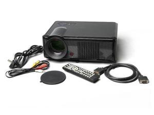 "5"" Active Matrix TFT LCD LED Projector with 1080P HDMI Output and EU Plug (Black)"