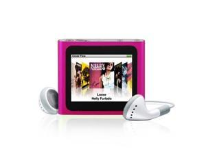 """1.8"""" Multi-touch Screen FM Radio Clip-on 8GB MP4 Player (Pink)"""
