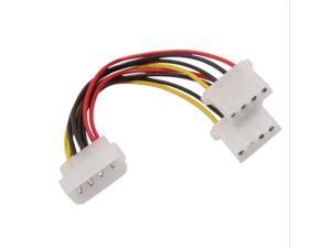 16cm 4 Pin Male to 2x 4-Pin IDE Female Power Y-Splitter Adapter Cable