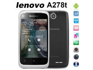 Lenovo White A278t Original Smart Phone Dual SIM Cards Android Cheap Cell Phones