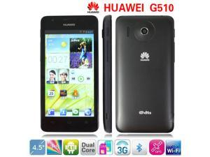 Original Huawei G510 (U/T8951) Smart Phone Android OS 4.0 Black/White Dual Cameras 4.5'' IPS Screen Free Shipping Cell Phones