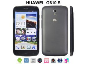 Black/White Original Huawei G610 Smartphone Quad Core Dual SIM Cards  5.0'' IPS Screen Unlocked Cell Phones