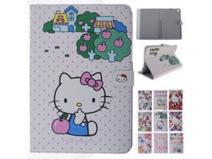 Cartoon Cute Hello Kitty KT Cat Stand PU Leather Case Cover For Apple Ipad mini 1 different Styles