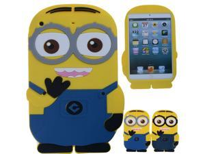 New Arrival Two Eyes Despicable Me 2 minions Blue Case For Apple iPad Mini & iPad Mini 1 / 2 Soft Rubber Silicone Protective ...