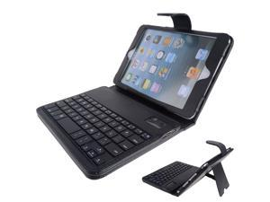 Business PU Leather + Hard plastic botton Case with bluetooth keyboard Protective Shell Cover for iPad mini