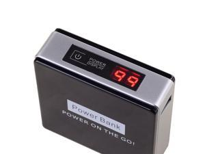 HJ Black 8400mAh Power Bank With Digital Display Portable Charge Battery
