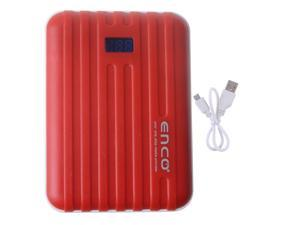 Red Power Bank 10400mAh Dual USB Output With LED Light Emergency Backup Charger For Smartphone iPhone ipad ipod