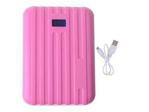 Pink Power Bank 10400mAh Dual USB Output With LED Light Emergency Backup Charger For Smartphone iPhone ipad ipod