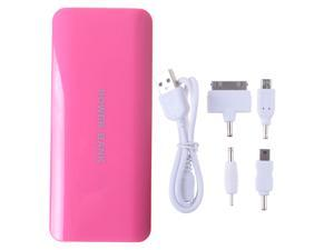 15000mAh Pink Portable Power Bank Dual USB Output External Backup Battery Charger For iPhone 4 4s 5 5s ipad ipod MP3/MP4 ...