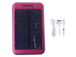 Solar Power Bank 48000mAh  Dual USB Output Hot Pink External Backup Charger Battery For iPhone 4 4s 5 5s ipad ipod Samsung ...
