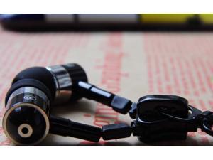 Black Bass Metal Zipper Stlye Earphone/Headphone With Mic For Apple iPhone 4 4s 5 5s Xiao Mi Meizu