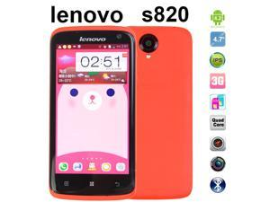 100% Original Lenovo S820 White Quad Core Mobile Phone, 13.0 MP 4.7'' IPS  Dual Sim GPS Unlocked Cell Phones