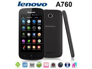 Original Lenovo A760 Black Quad Core Dual SIM Cards 4.5'' IPS Screen Support GPS Unlocked Cell Phones