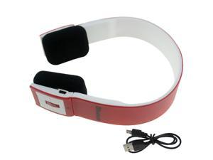 Red Wireless Bluetooth Stereo Audio Headset Headphone for CellPhone Laptop PC Tablet