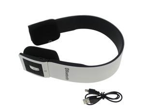 White Wireless Bluetooth Stereo Audio Headset Headphone for CellPhone Laptop PC Tablet