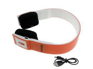 Orange Wireless Bluetooth Stereo Audio Headset Headphone for CellPhone Laptop PC Tablet