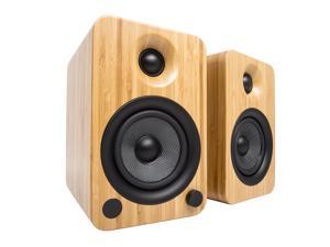 Kanto YU4 Powered Speakers with Bluetooth® and Phono Preamp, Bamboo
