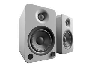 Kanto YU4 Powered Speakers with Bluetooth® and Phono Preamp, Matte Grey