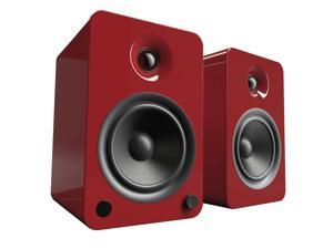 Kanto YU6 Powered Speakers with Bluetooth® and Phono Preamp, Gloss Red