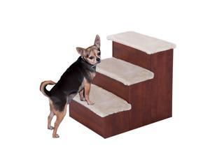PawHut Wooden Pet Easy Step Pet Stairs Ramp for Cats and Dogs with Storage Unit (3 Step)