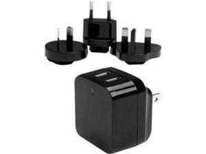 StarTech USB2PACBK Travel USB Wall Charger - 2 Port - Black - Universal Travel Adapter - International Power Adapter - USB Charger
