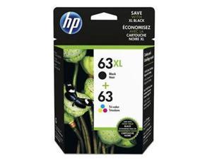HP 63XL 4-Color (L0R46AN#140)  Ink Cartridges - Black/Cyan/Magenta/Yellow