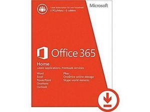 Microsoft Office 365 Home Mac/Win Medialess 1 Year Subscription - French