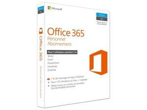 Microsoft Office 365 Personal, 1 PC or Mac Plus 1 Tablet, 1-Year Subscription, French