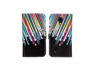 Topforcity Colorful Stars with Meteor Stand Leather Carry Case Cover Fit For Samsung Galaxy S4 Mini i9190