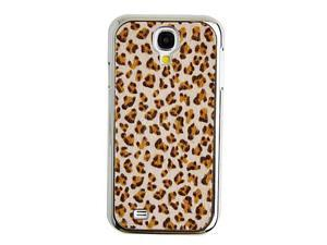 Topforcity Leopard Grain Textile Back Case for Samsung Galaxy S4 i9500(Brown)
