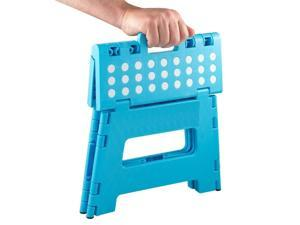 "Handy Folding Step Stool For Adults & Kids - 12"" Heavy Duty Plastic Step Stool"