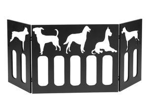"47"" Freestanding Pet Gate w/ Puppy Cut Out – Wood Dog Gates Indoor – Dog Fence"