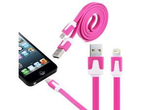 1M Noodle Shape 8-Pin Lightning Port Cable USB Sync Data/ Charging Cable for iPhone5/ iPad Mini/ 4 Generation iPad