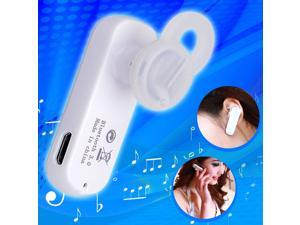 Wireless Stereo Bluetooth V 3.0 Headset Earpiece Earphone for Phone White