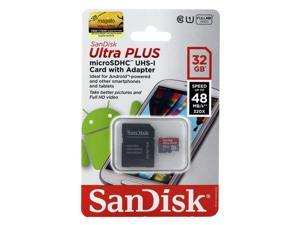 SanDisk Ultra PLUS 32GB microSDHC Class 10 Memory Card w/ Adapter