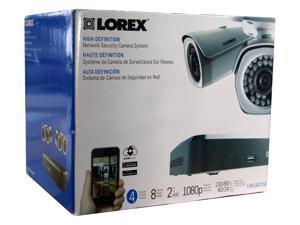 Lorex LNR1182TC4 8Ch 2TB Cloud Connect with 4 x 1080p HD Cameras (Black)