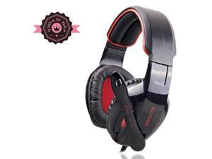 Sades Sa-902 7.1 Surround Sound Effect USB Gaming Stereo Headset Headphone with Mic Black