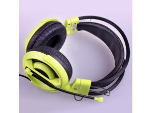 Water&Wood EHH007 Green Cobra Gaming Headset Headphone Earphones with Microphone Mic