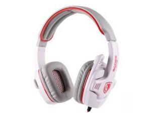 Sades Stereo Headset Headband SA-708 Game Earphone Bass Headphones with Microphone (White)
