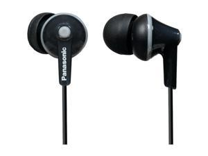 PANASONIC RP-HJE125-K HJE125 ErgoFit In-Ear Earbuds (Black)