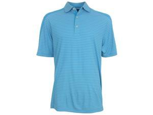 Greg Norman Men's Striped Weather Knit Polo Shirt