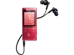 Sony NWZE474 8 GB Walkman MP3 Video Player (Red)